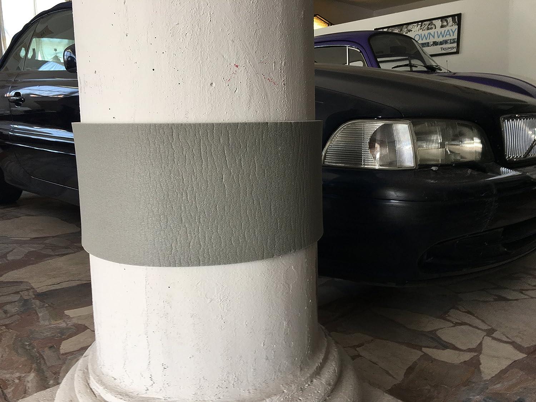 Paracolpi per Garage - Pareti - box Auto, Set da 4 x pannelli autoadesive forte - colore RAL 7023 Grigio Calce, misura 45 x 16,5 x 1,0 cm di spessore - in Polietilene - protezione fiancata portiera auto, tampone paraurti, massima protezione porte. (grigio