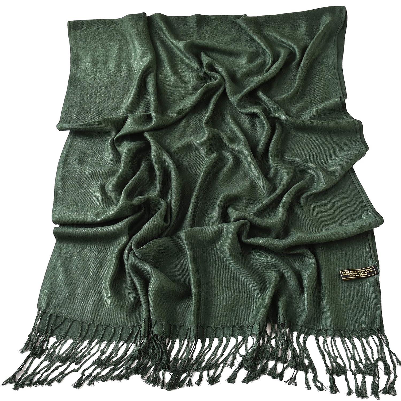 Dark Green Solid Colour Design Shawl Scarf Wrap Stole Throw Pashmina CJ Apparel NEW