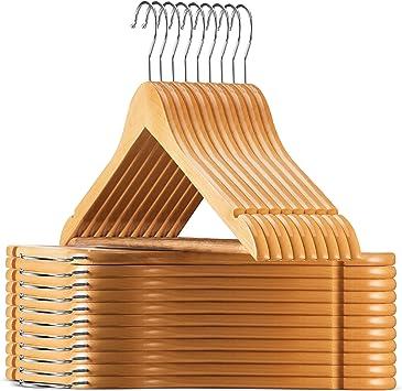 Amazon.com: ZOBER - Perchas de madera de loto de alto grado ...