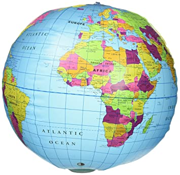 Map Of Canada On Globe.Learning Resources 12 Inflatable Globe With Light