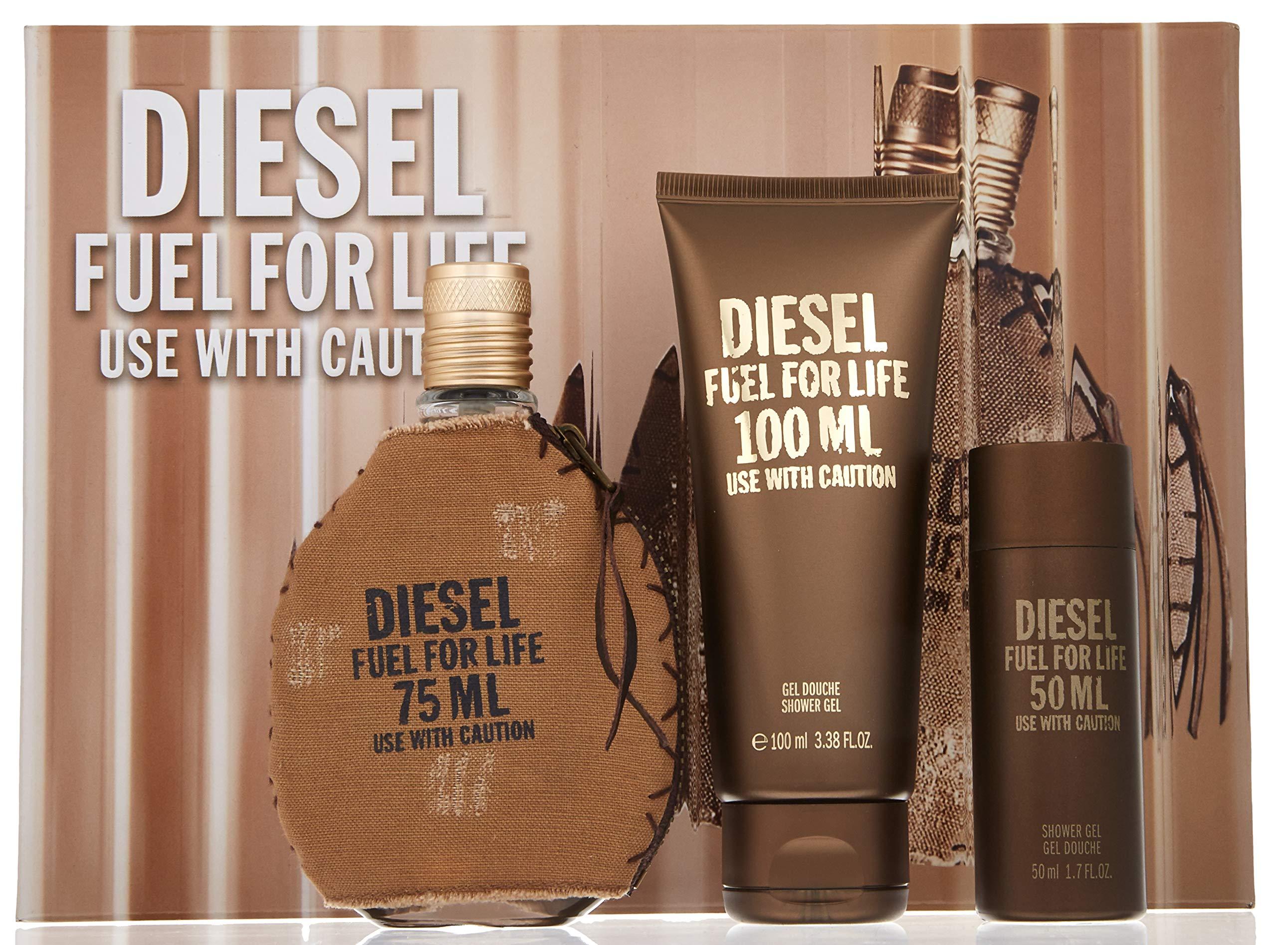 Diesel Fuel For Life Pour Homme Gift Set For Men 3 pc