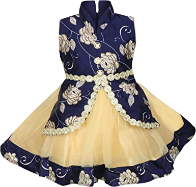 MPC Cute Fashion Baby Girl's Satin and Soft Net Frock Dress for Girls' Dresses & Jumpsuits at amazon