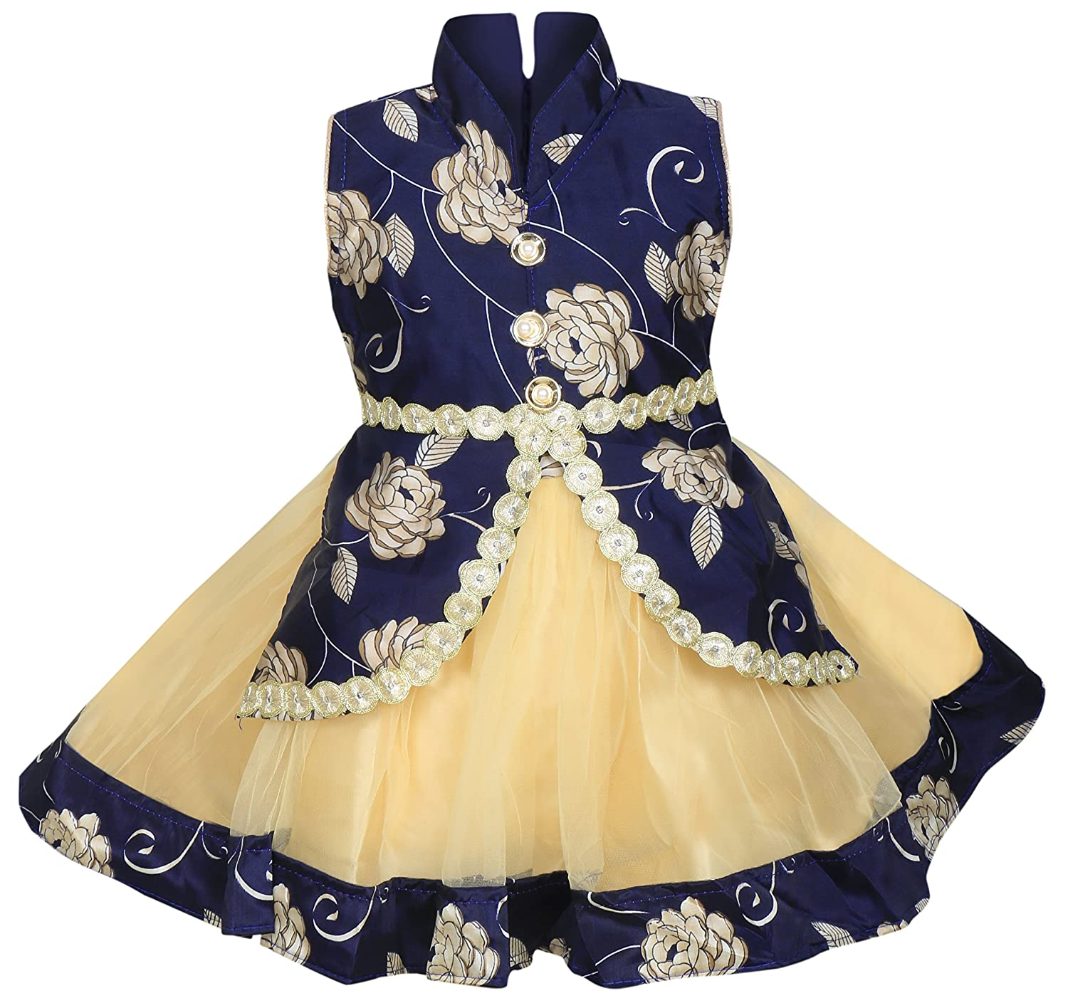 Mpc Cute Fashion Baby Girl s Satin and Soft Net Frock Dress For