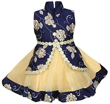 6a9949b3b MPC Cute Fashion Baby Girl s Satin and Soft Net Frock Dress for ...