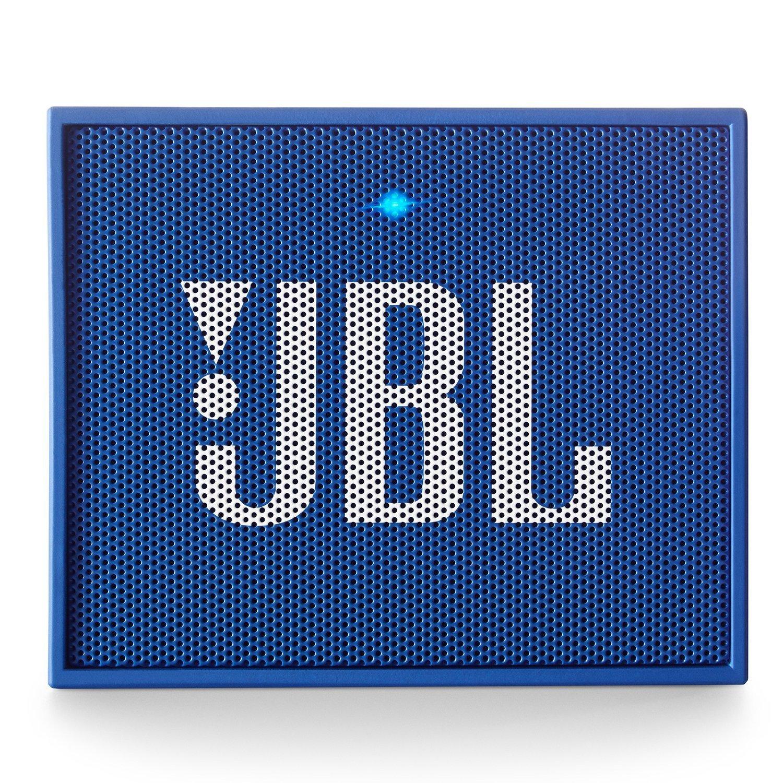 JBL GO Portable Wireless Bluetooth Speaker W/A Built-In Strap-Hook (BLUE)