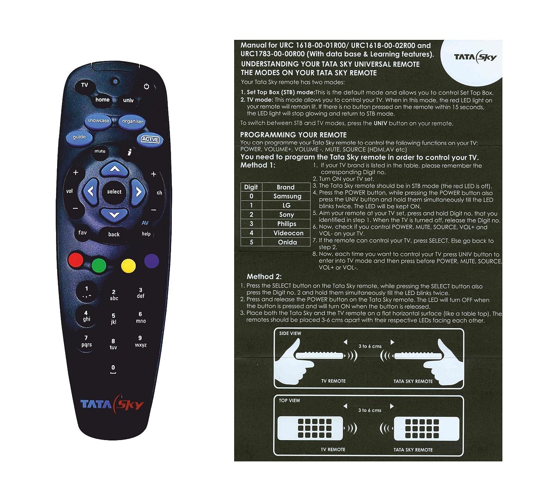 buy tatasky universal remote online at low prices in india amazon in rh amazon in tata sky hd setup box user manual tata sky hd box user guide