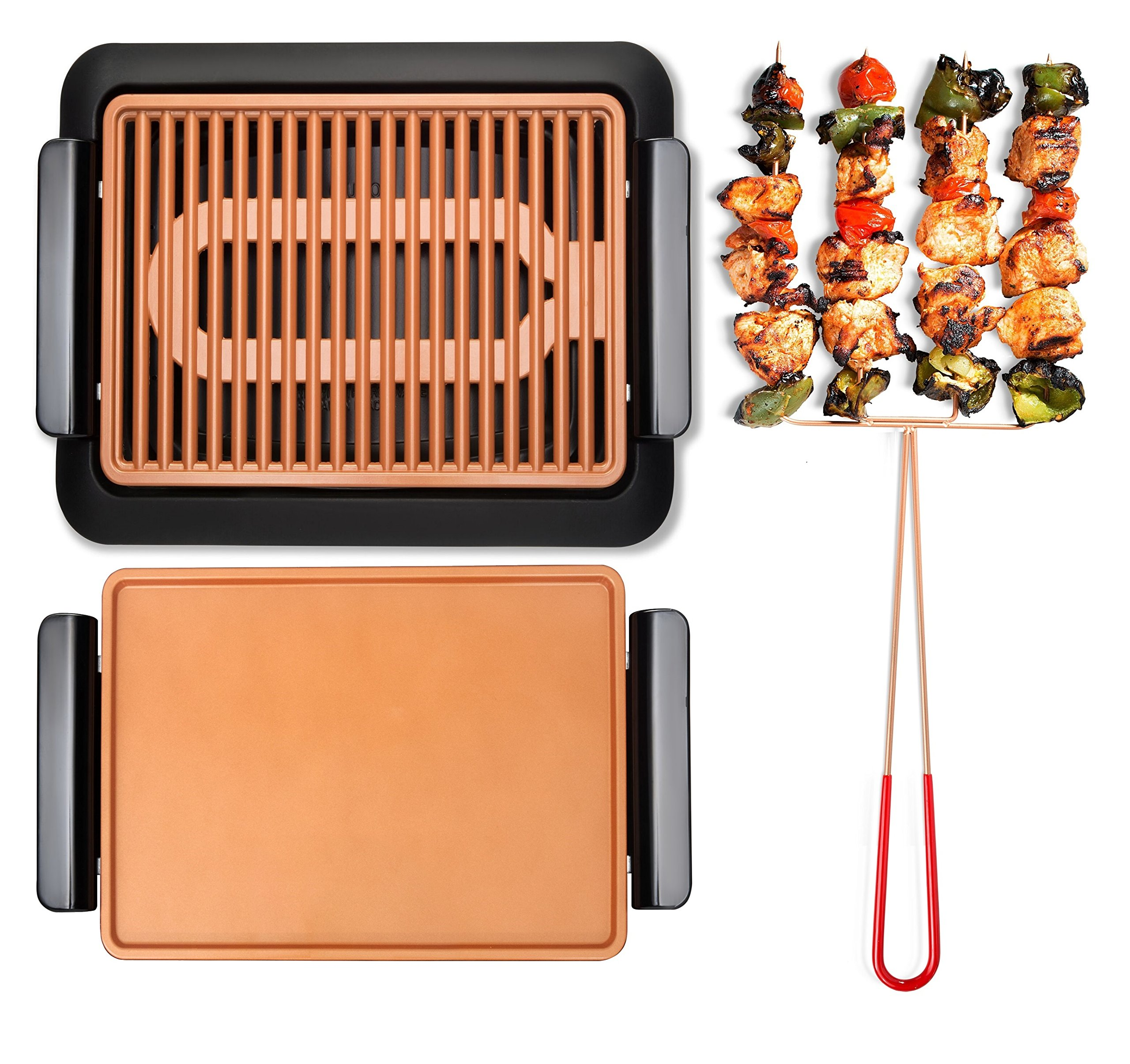 GOTHAM STEEL Smokeless Electric Grill, Griddle, and Pitchfork, Indoor BBQ and Nonstick As Seen On TV (Original) by GOTHAM STEEL