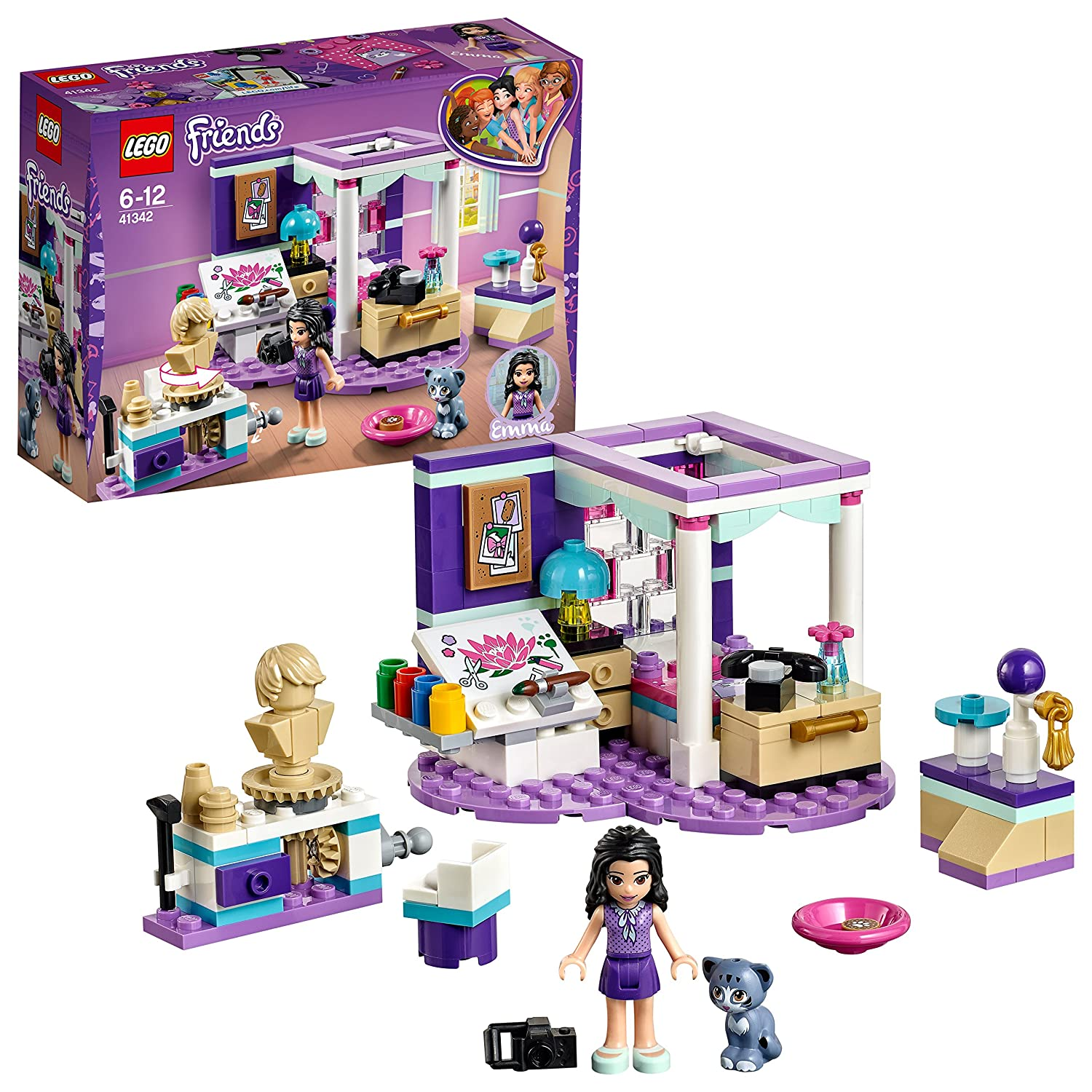 LEGO 41342 Friends Emma's Deluxe Bedroom Building Set