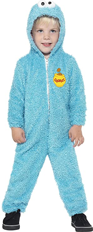 Smiffyu0027s Toddleru0027s Sesame Street Cookie Monster Costume All-in-One Suit Size  sc 1 st  Amazon UK & Smiffyu0027s Toddleru0027s Sesame Street Cookie Monster Costume All-in-One ...