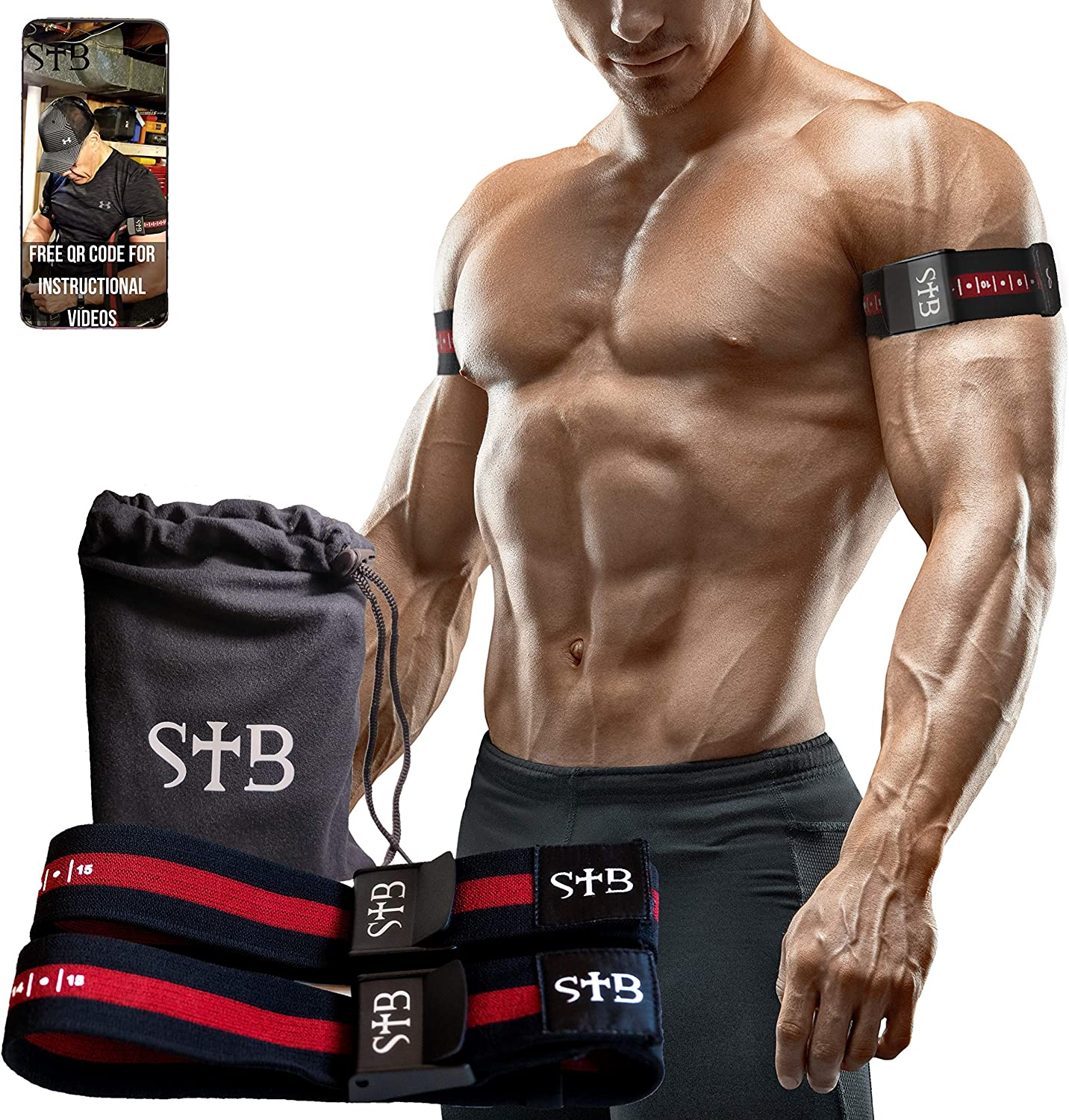 1 Pair Occlusion Training Bands Blood Flow Restriction Muscle Straps Arms