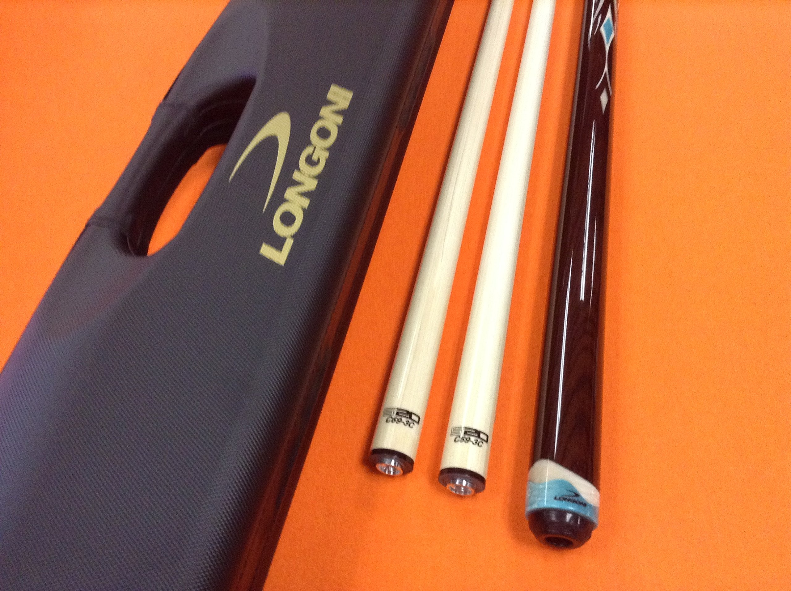 Longoni CAROM CUE LEPPENS S20 C69 SHAFTS & PATENTED CASE (special edition).