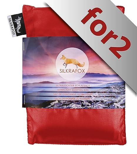 Silkrafox for 2 - Saco de dormir ultraligero para las excursiones de senderismo, 150 cm