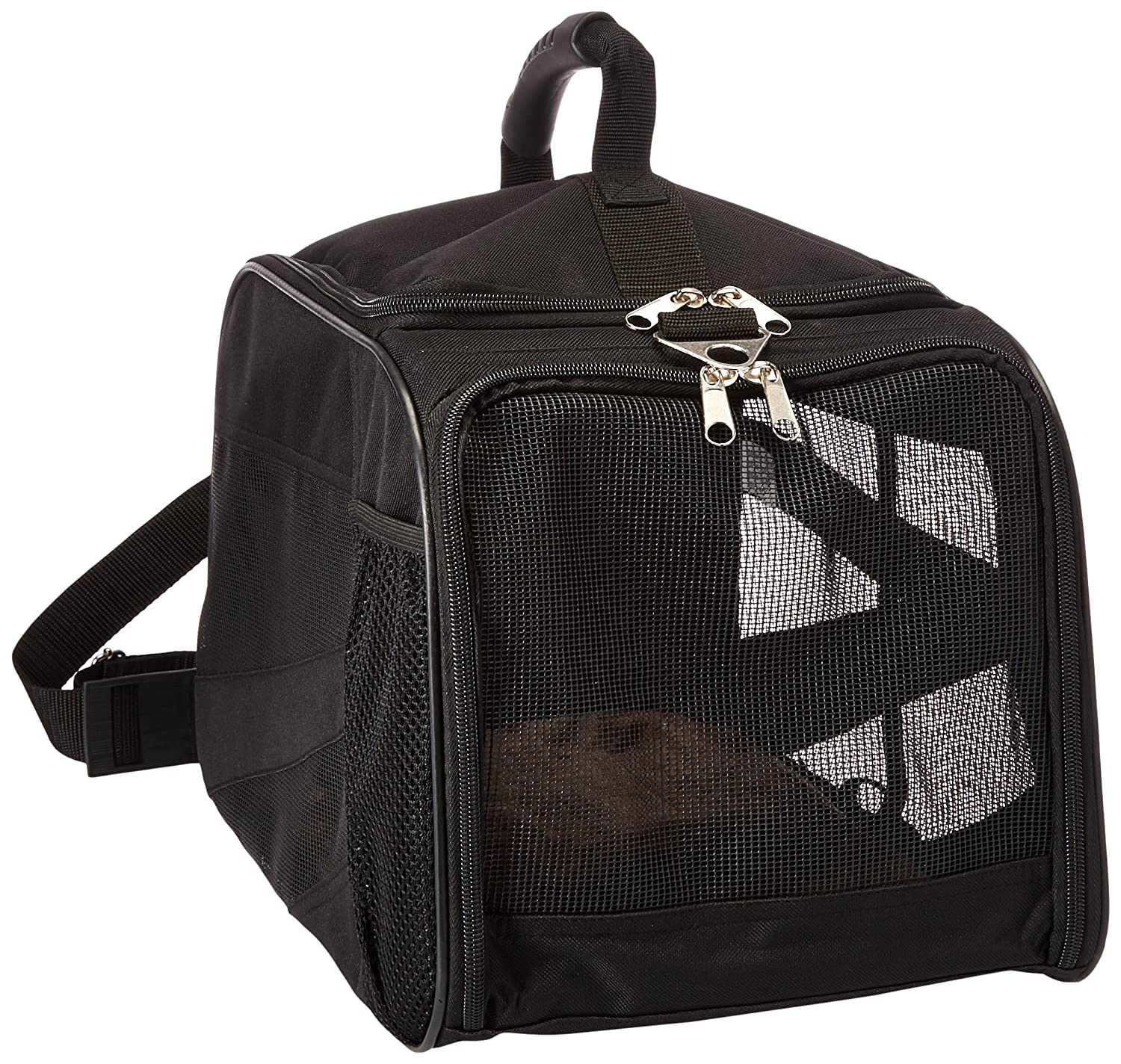 Amazon.com: dbest products Pet Smart Cart Carrier, Small, Black, Soft Sided Collapsible Folding Travel Bag, Dog Cat Airline Approved Tote Luggage Backpack: ...