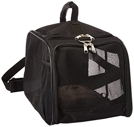 dbest products Pet Smart Carro Portador, pequeño, Negro, Suave Cara Plegable Plegable Bolsa