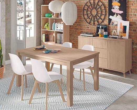 Miroytengo Pack Comedor Salon Moderno Noruega Mesa 4 sillas ...