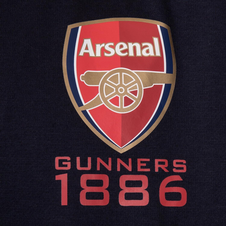 Arsenal FC Official Football Gift Mens Fleece Zip Hoody
