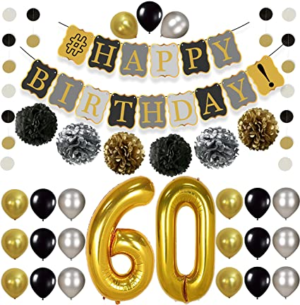 Amazon Vintage 60th Birthday Decorations Party KIT