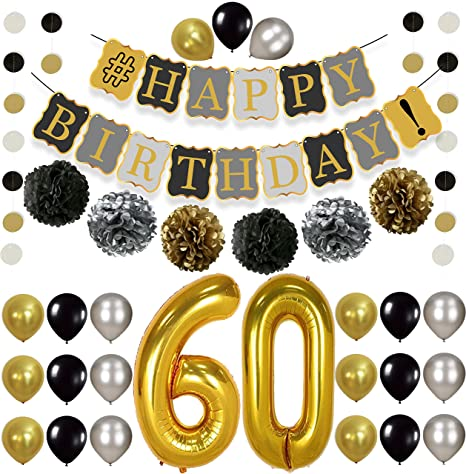 Vintage 60th Birthday Decorations Party KIT