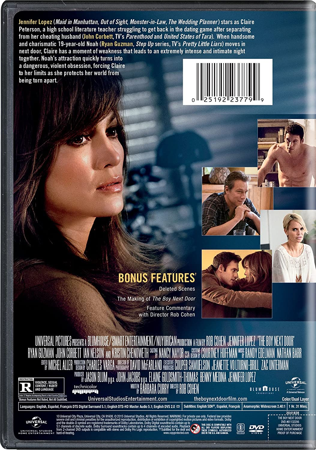 Amazon.com The Boy Next Door Jennifer Lopez Ryan Guzman John Corbett Ian Nelson Kristin Chenoweth Rob Cohen Jason Blum John Jacobs ...  sc 1 st  Amazon.com & Amazon.com: The Boy Next Door: Jennifer Lopez Ryan Guzman John ...