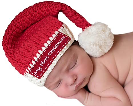 Melondipity My First Christmas Red Stocking Cap For Babies - Gender Neutral  (0-6 ccbbf92570d