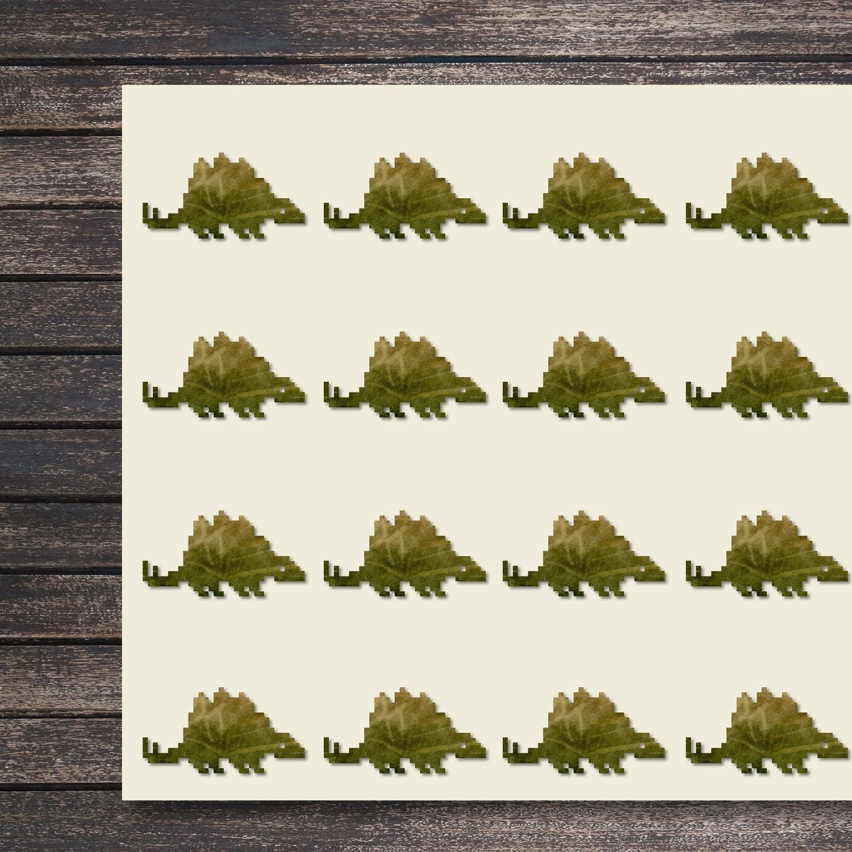Pixel 恐竜 Stegosaurus クラフトステッカー 44枚 1.5インチ スクラップブック/パーティー/シール/DIYプロジェクトに最適 946455 B07DHSLB6N