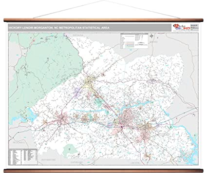 Amazon Com Marketmaps Hickory Lenoir Morganton Nc Metro Area Wall