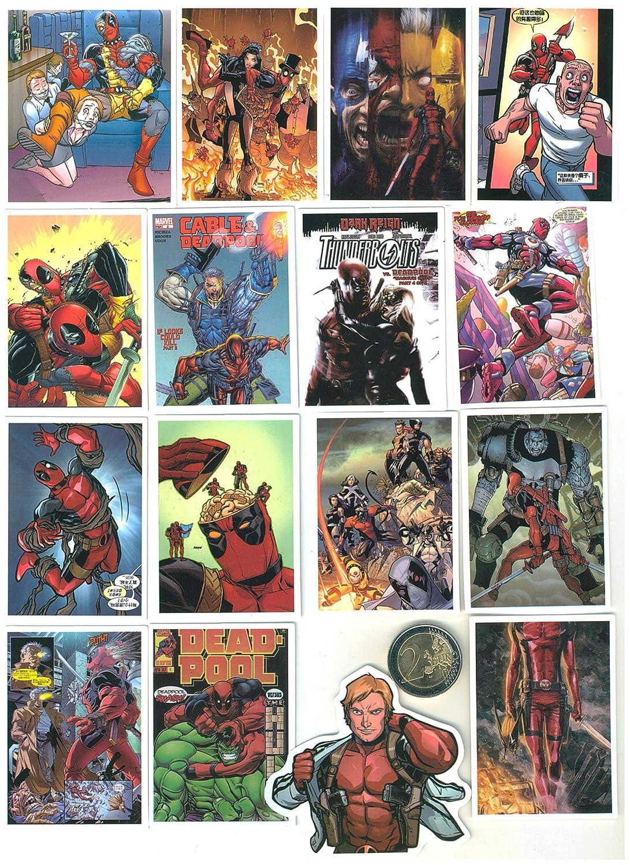 SetProducts ⭐ Top Pegatinas! ⭐ Juego de 40 Pegatinas de Dead Pool Vinilos - No Vulgares - Marvel, Deadpool, Bomba - Personalización Portátil, ...