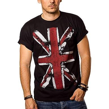 d07deb561 Great Britain Flag T-Shirt UNITED KINGDOM - UNION JACK Vintage Black  S-XXXL: Amazon.co.uk: Clothing