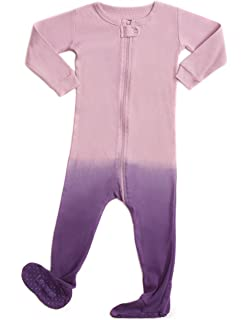 45e40644efff Amazon.com  Leveret Striped Baby Boys Footed Pajamas Sleeper 100 ...