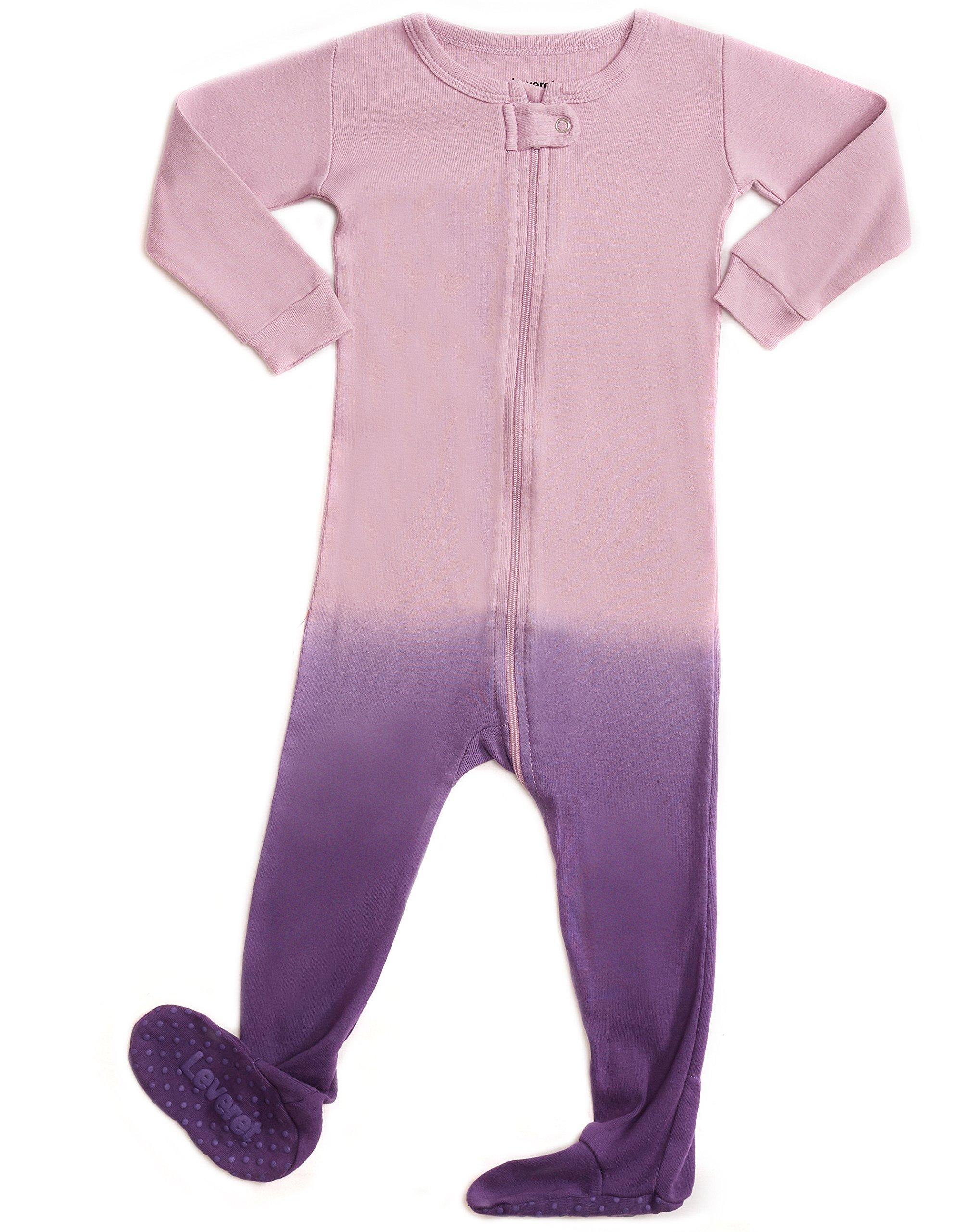 Leveret Kids Organic Cotton Tie-Dye Purple Baby