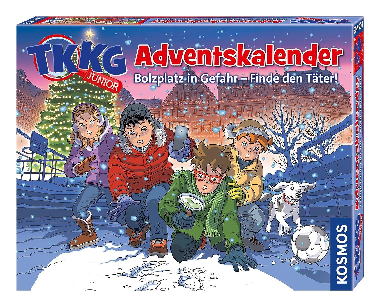 KOSMOS Adventskalender 630539 TKKG Junior 2018 Weihnachten empfohlenes Alter: ab 8 Jahre Detektiv / Ratekrimi Mitmachkrimi für Kinder