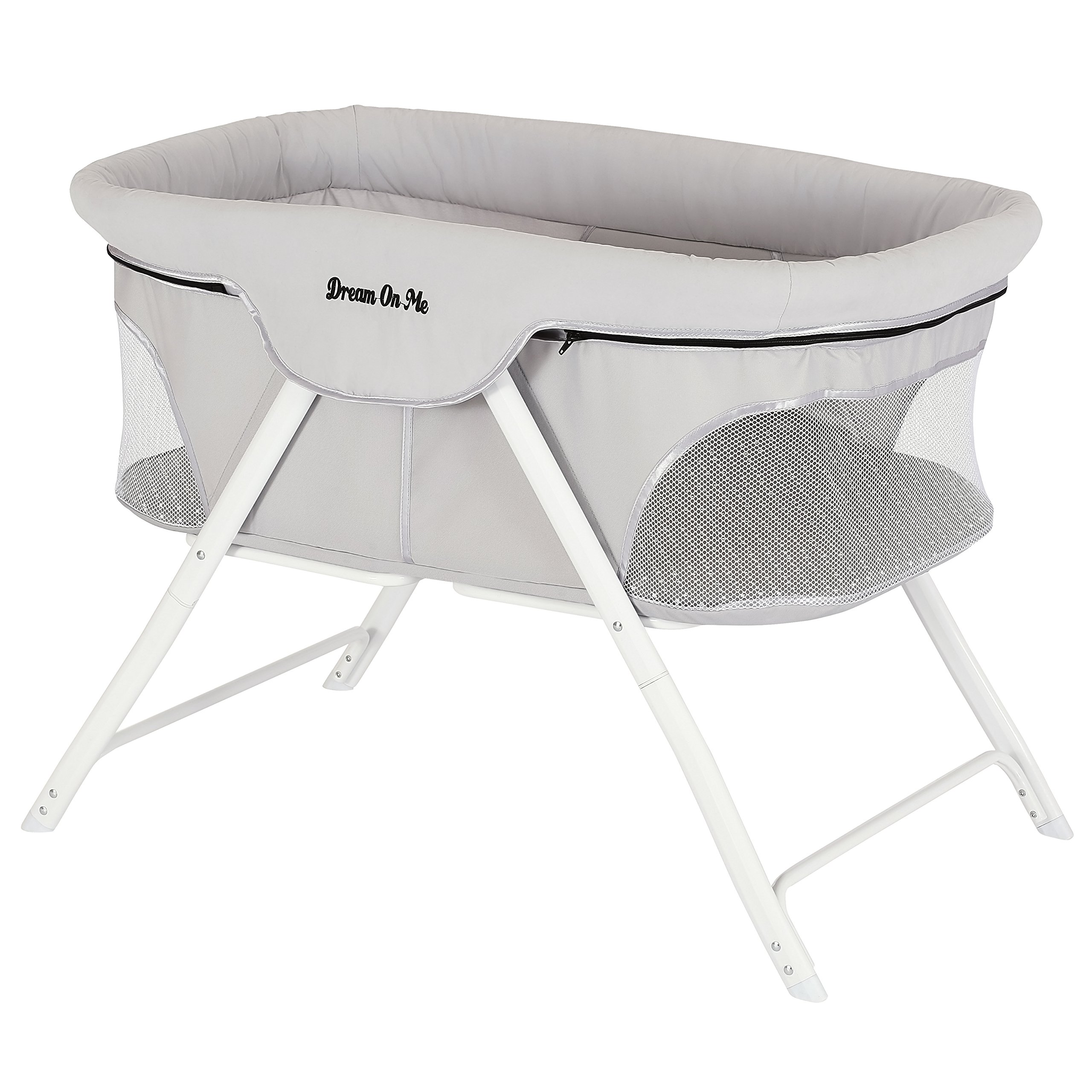 Dream On Me Traveler Portable Bassinet, Cloud Grey by Dream On Me