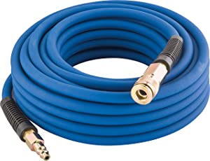 Estwing E1450PVCR 50 Foot Hybrid Rubber & Pvc Air Hose Lightweight Kink-Resistant Compressed Air Hose with Solid Brass Couplings