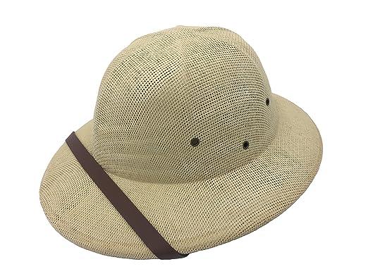 46aceb67fd7d1 Kainozoic Safari Pith Helmet Costume Straw Jungle Hat (Beigh) at ...
