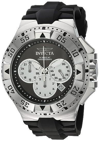 amazon com invicta men\u0027s \u0027excursion\u0027 quartz stainless steel andinvicta men\u0027s \u0027excursion\u0027 quartz stainless steel and silicone casual watch, color black