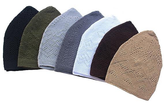 5adace87266 Al-Ameen 7X Islamic Muslim Knitting Kufi Topi Prayer Hat Crochet ...
