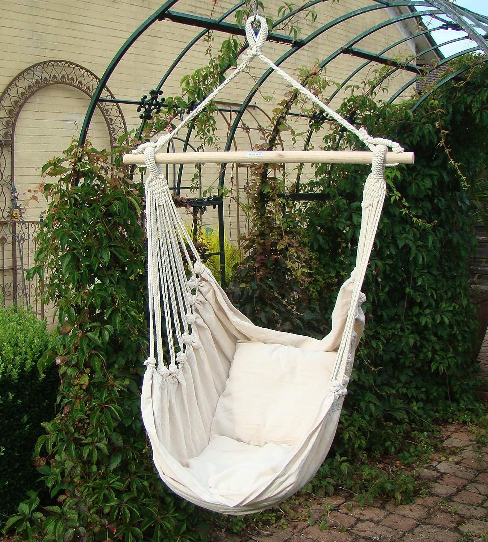 Sunshine, asiento columpio, Jardín Sillón colgante para colgar, color beige: Amazon.es: Jardín