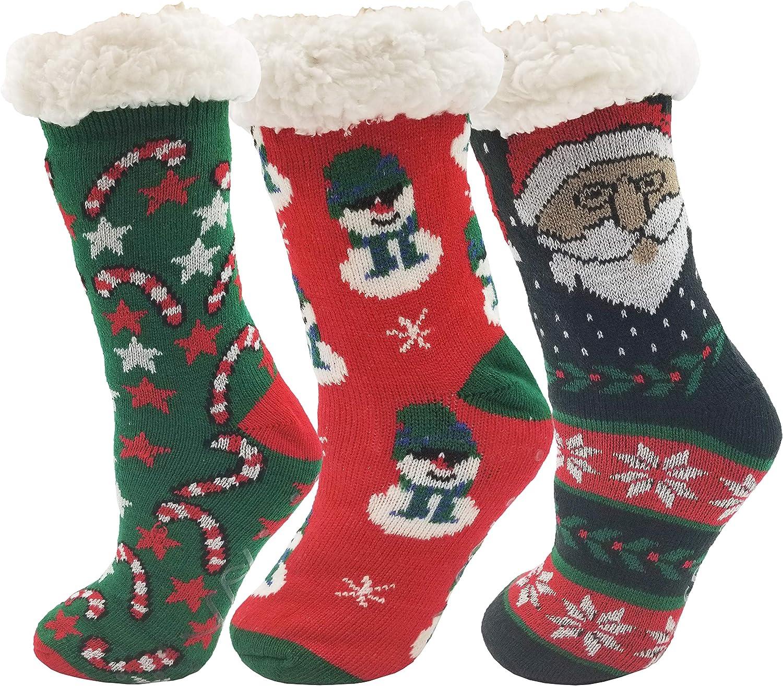 Cartoon Hosiery Socks Anti-skid Slipper Socks Christmas Socks-Elk