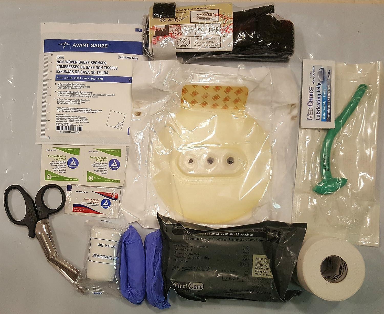 Complete USGI based Medical IFAK Trauma Kit Refill Supplies with CAT Tourniquet