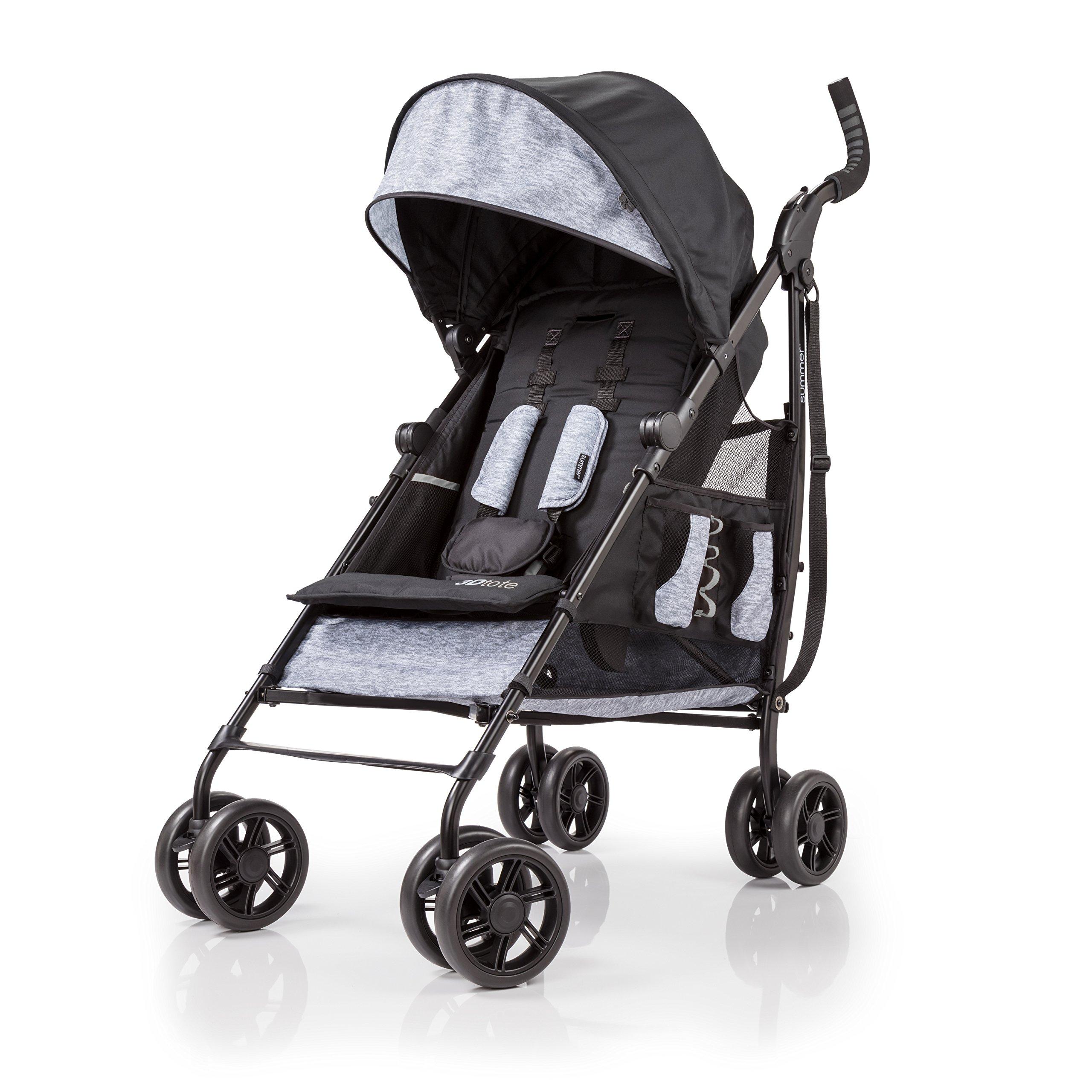 Summer Infant 3DTote Convenience Stroller, Black/Grey