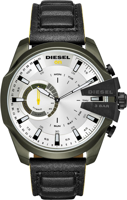 Diesel Reloj Analogico para Hombre de Cuarzo con Correa en Cuero DZT1012