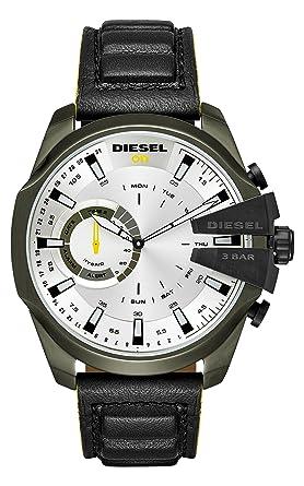 Diesel Homme Analogique Quartz Montre avec Bracelet en Cuir DZT1012