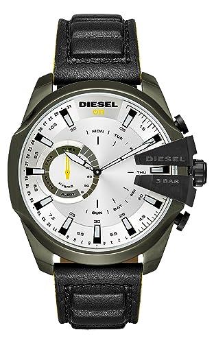 Diesel Reloj Analogico para Hombre de Cuarzo con Correa en Cuero DZT1012: Amazon.es: Relojes