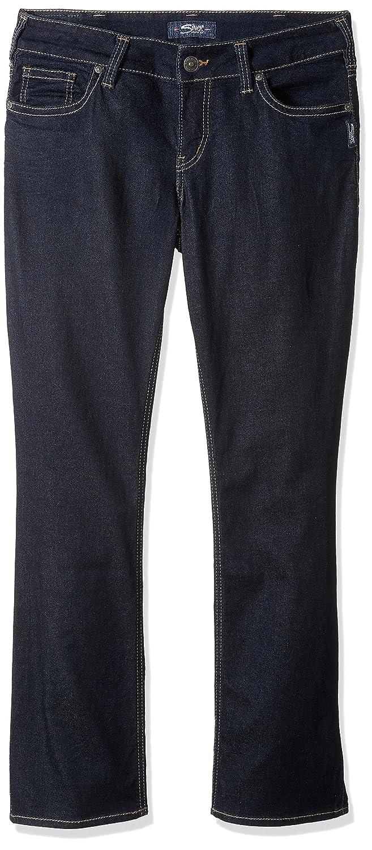 Silver Jeans Womens Plus-Size Plus Size Suki Curvy Fit Slim Bootcut Rinse Wash Jeans Silver Jeans Juniors W93616SPR424