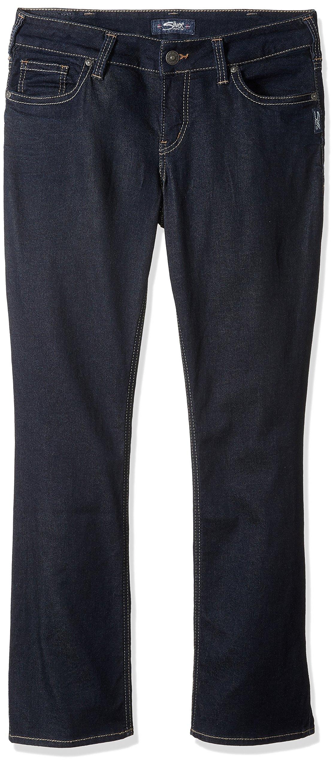 Silver Jeans Women's Plus Size Suki Curvy Fit Slim Bootcut Jeans, Rinse Wash, 24 X 33
