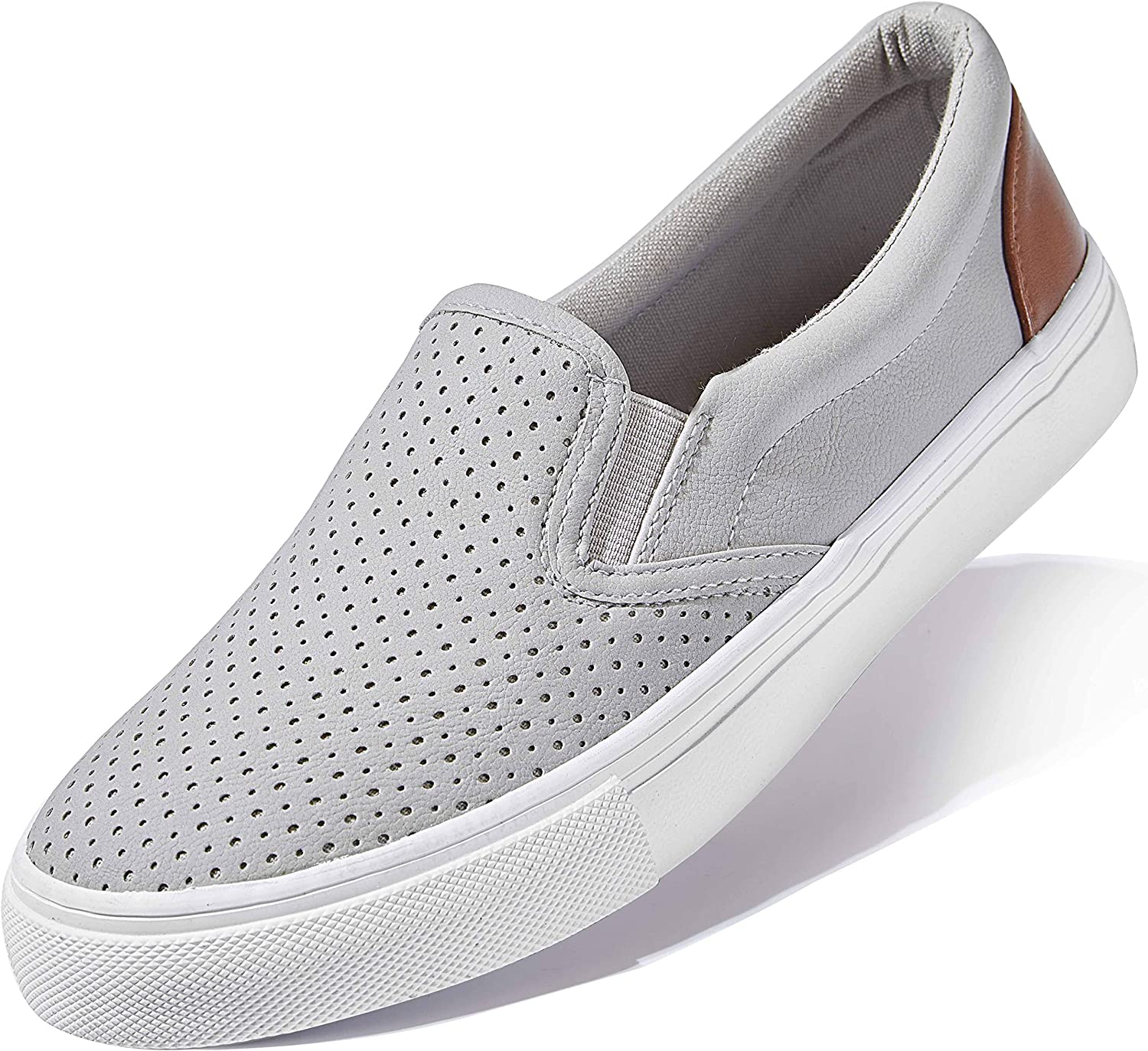 DailyShoes Women's Flat Memory Foam Slip On Sneakers Casual Loafers Round Comfortable Slip-on Shoes