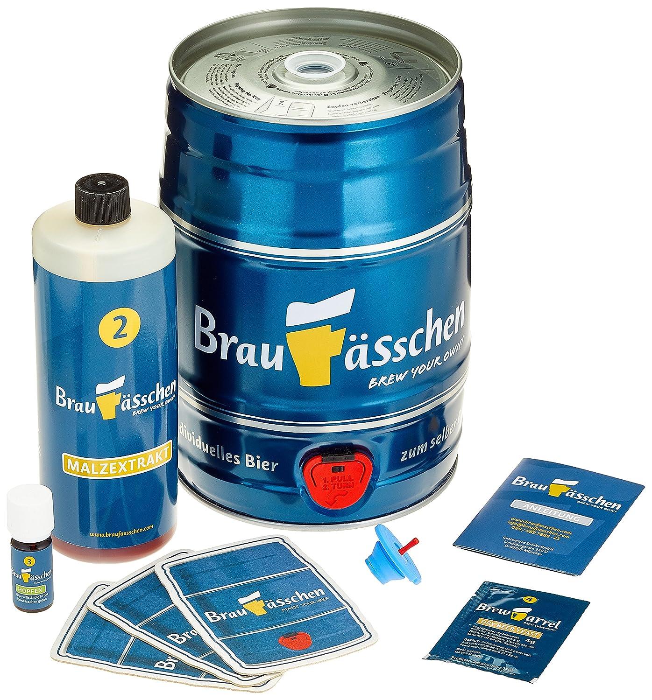 Brauf/ässchen Kit de brassage pour brasser votre propre bi/ère pils en 7 jours avec f/ût 5 l