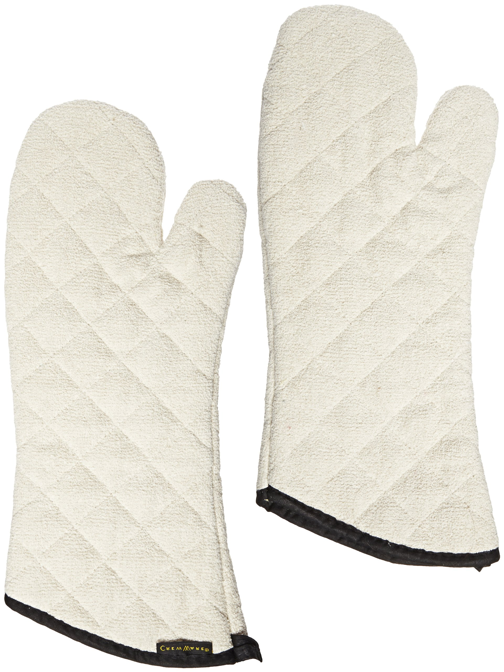 San Jamar 813TMSB Heavy Duty Terry Cloth Temperature Protection Oven Mitt with Steam Barrier, 13'' Length, Natural by San Jamar