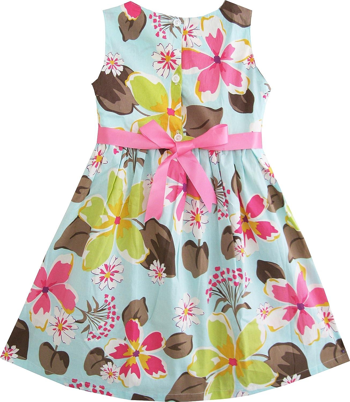 Amazon sunny fashion girls dress blue flower print playwear amazon sunny fashion girls dress blue flower print playwear dresses clothing mightylinksfo