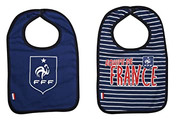 Equipe de FRANCE de football Bavoir bébé x 2 FFF - Collection Officielle 36c23a92c71